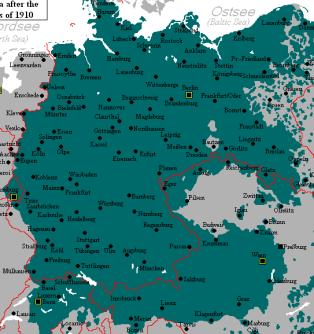 Duits taalgebied, 1910