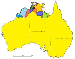 In Noord-Australië komen veel  taalfamilies voor, die elk weer uit meerdere, steevast kleine talen bestaan.